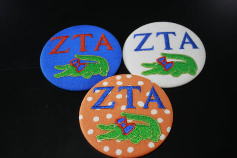Zeta Tau Alpha Gator Game Day Button