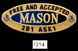 Mason Oval Patch