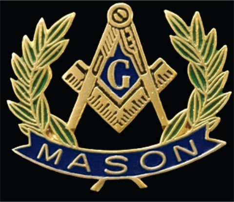 Masons Wreath Pin