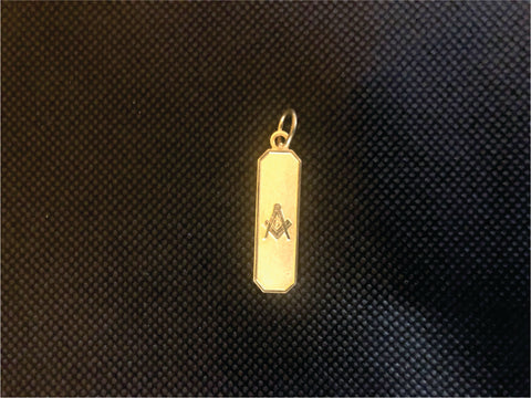 Masons Plate Necklace Charm