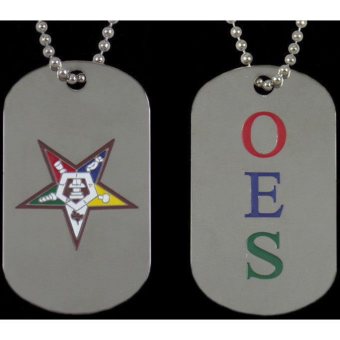 Order of the Eastern Star Double-sided Dogtag