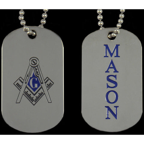 Mason Double-sided Dogtag