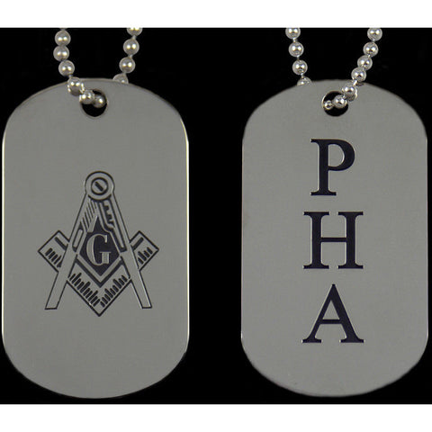 Mason PHA Double-sided Dogtag
