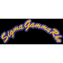 Sigma Gamma Rho Tackle Twill Rocker Patch