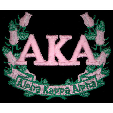 Alpha Kappa Alpha 3-D Lazer Wreath Patch