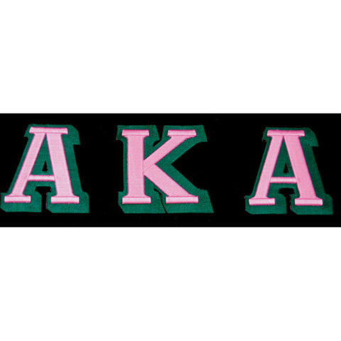 Alpha Kappa Alpha 3-D Greek Letter Patch