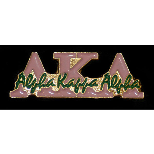 Alpha Kappa Alpha Greek Signature Lapel Pin