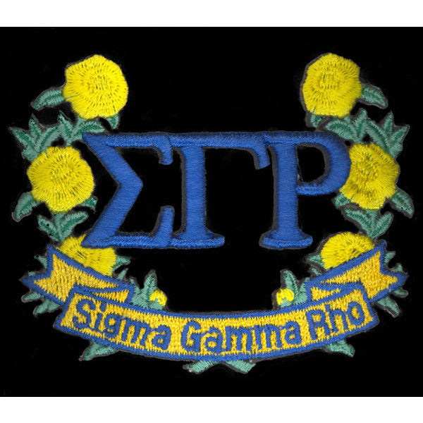 Sigma Gamma Rho 3-D Lazer Wreath Patch