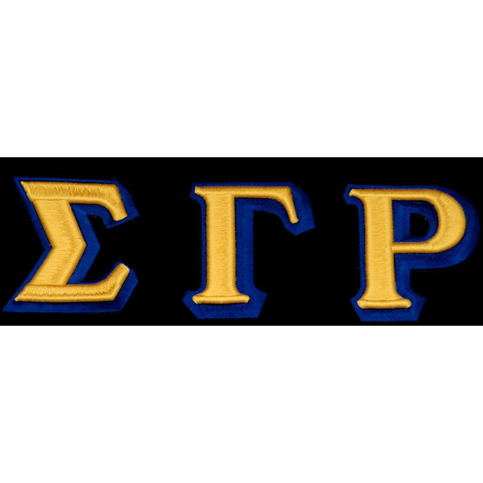 Sigma Gamma Rho 3-D Greek Letter Patch