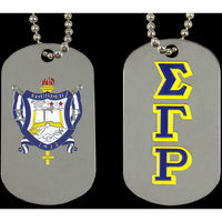 Sigma Gamma Rho Double Sided Dogtag