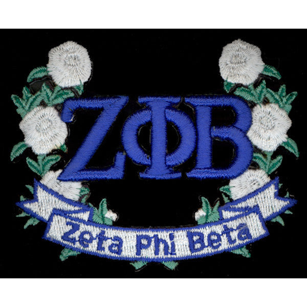 Zeta Phi Beta 3-D Lazer Wreath Patch