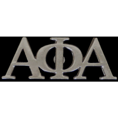 Alpha Phi Alpha Silver Greek Letter Lapel Pin