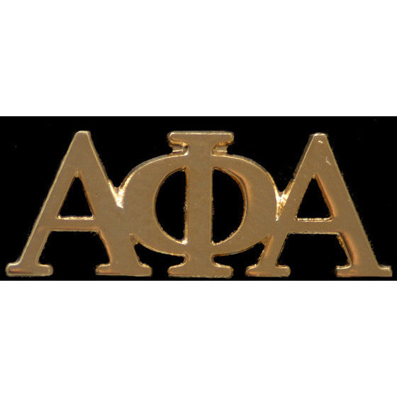 Alpha Phi Alpha Gold Greek Letter Lapel Pin