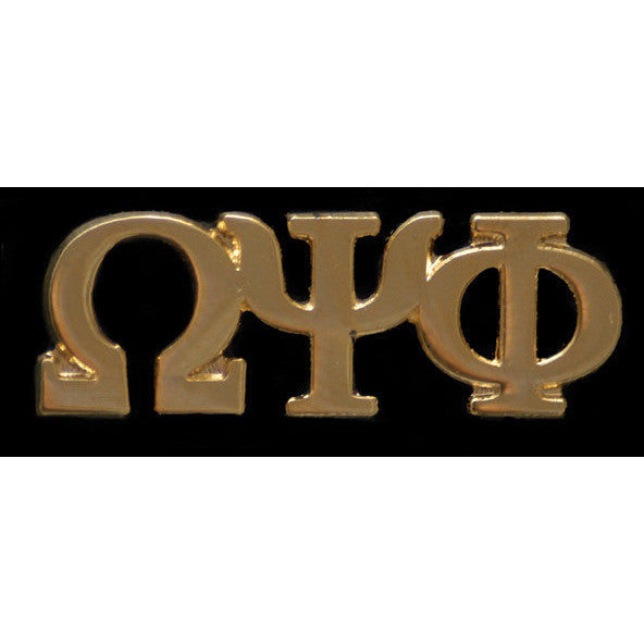 Omega Psi Phi Gold Greek Letter Lapel Pin
