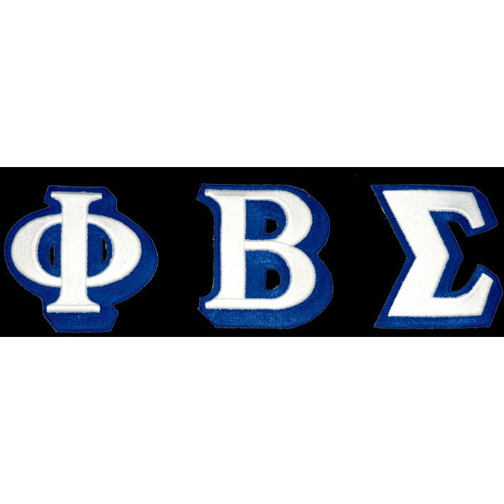 Phi Beta Sigma 3-D Greek Letter Patch