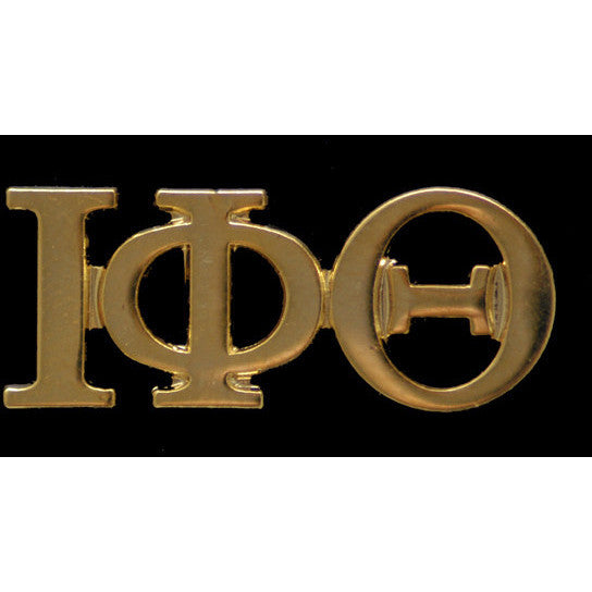 Iota Phi Theta Gold Greek Letter Lapel Pin