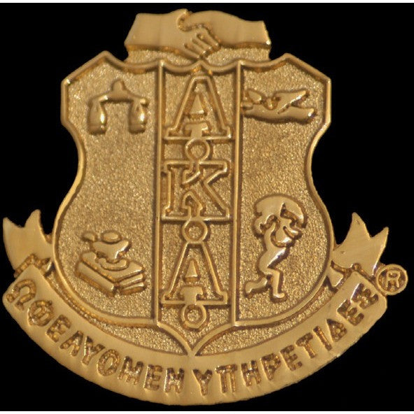 Alpha Kappa Alpha Sandblast Shield Pin