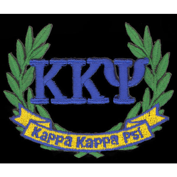 Kappa Kappa Psi 3-D Lazer Wreath Patch