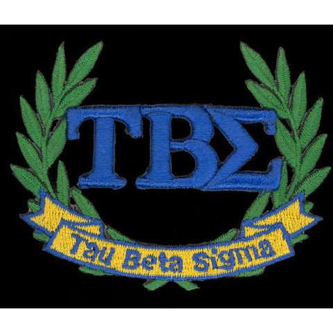 Tau Beta Sigma 3-D Lazer Wreath Patch