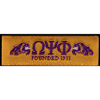 Omega Psi Phi Woven Label Patch