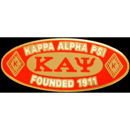 Kappa Alpha Psi Oval Founder Pin