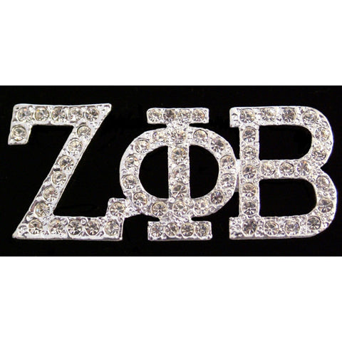 Zeta Phi Beta Austrian Crystal Pin 2