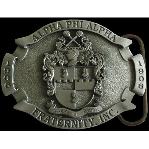 Alpha Phi Alpha Pewter Belt Buckle