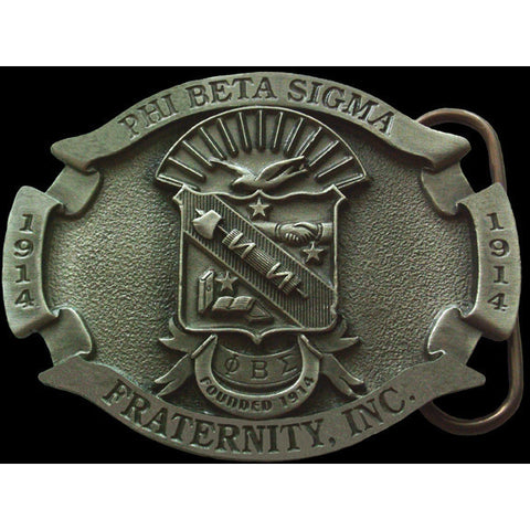 Phi Beta Sigma Pewter Belt Buckle