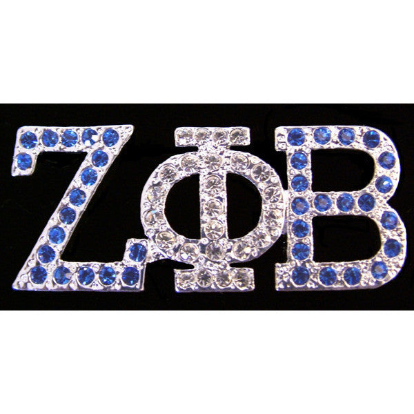 Zeta Phi Beta Austrian Crystal Pin 5