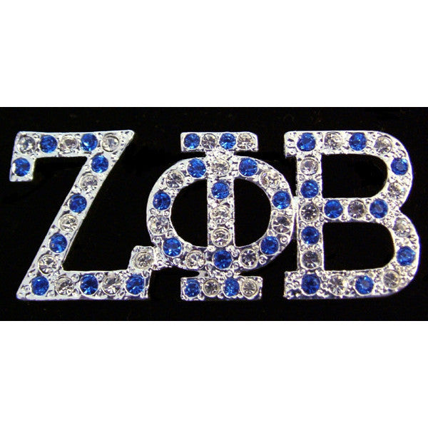 Zeta Phi Beta Austrian Crystal Pin 6