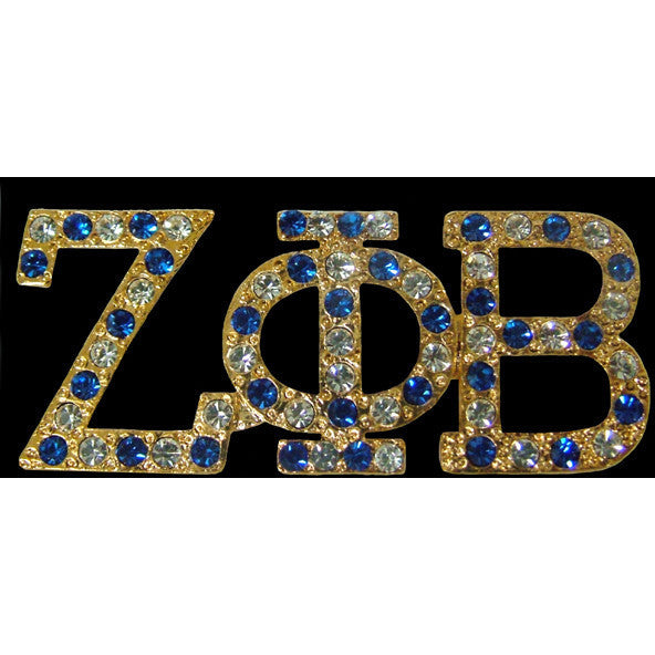 Zeta Phi Beta Austrian Crystal Pin 4