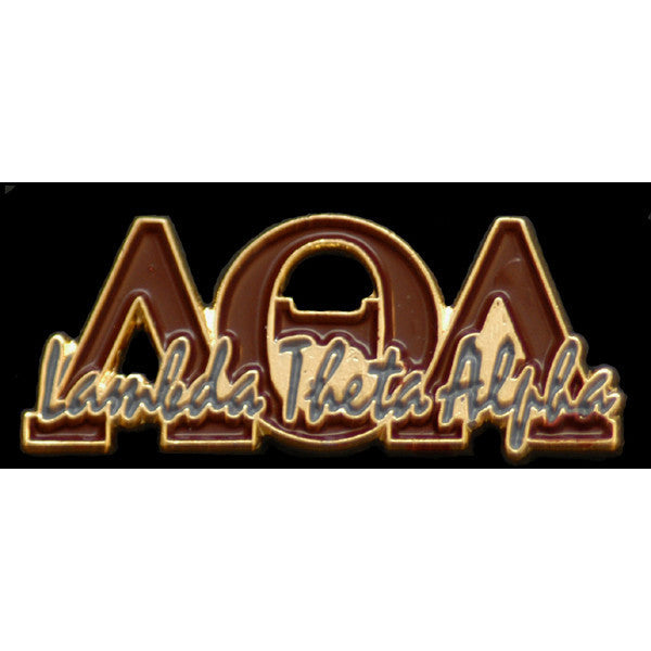 Lambda Theta Alpha Greek Signature Lapel Pin