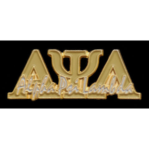Alpha Psi Lambda Greek Signature Lapel Pin