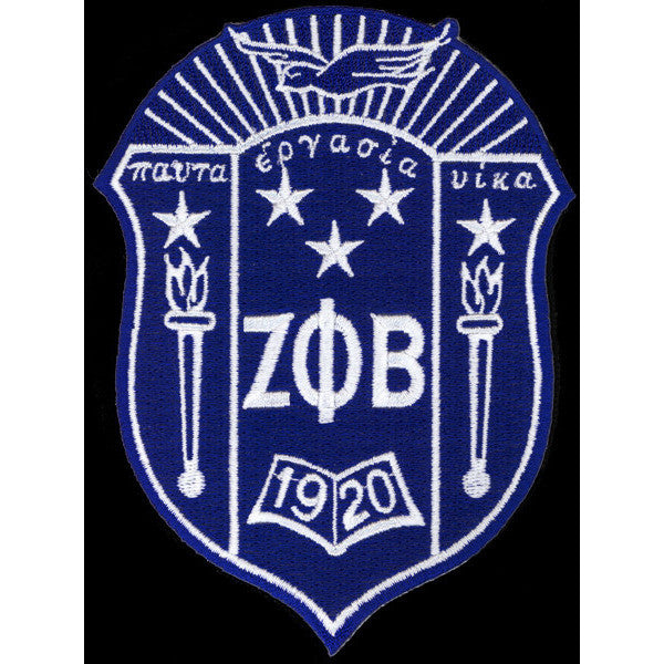 Zeta Phi Beta Shield Patch Greek Divine And More