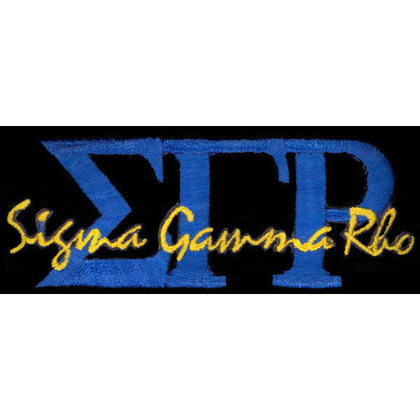 Sigma Gamma Rho Signature Patch 2