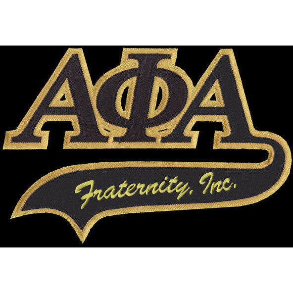 Alpha Phi Alpha Tackle Twill Tail Patch Greek Divine And