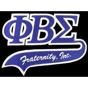Phi Beta Sigma Tackle Twill Tail Patch