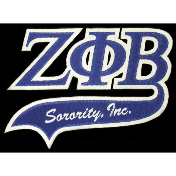 Zeta Phi Beta Tackle Twill Tail Patch