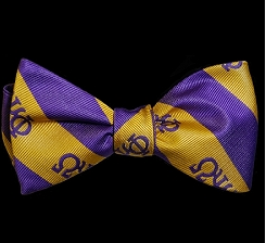 Omega Psi Phi Bow Tie and Handkerchief Set