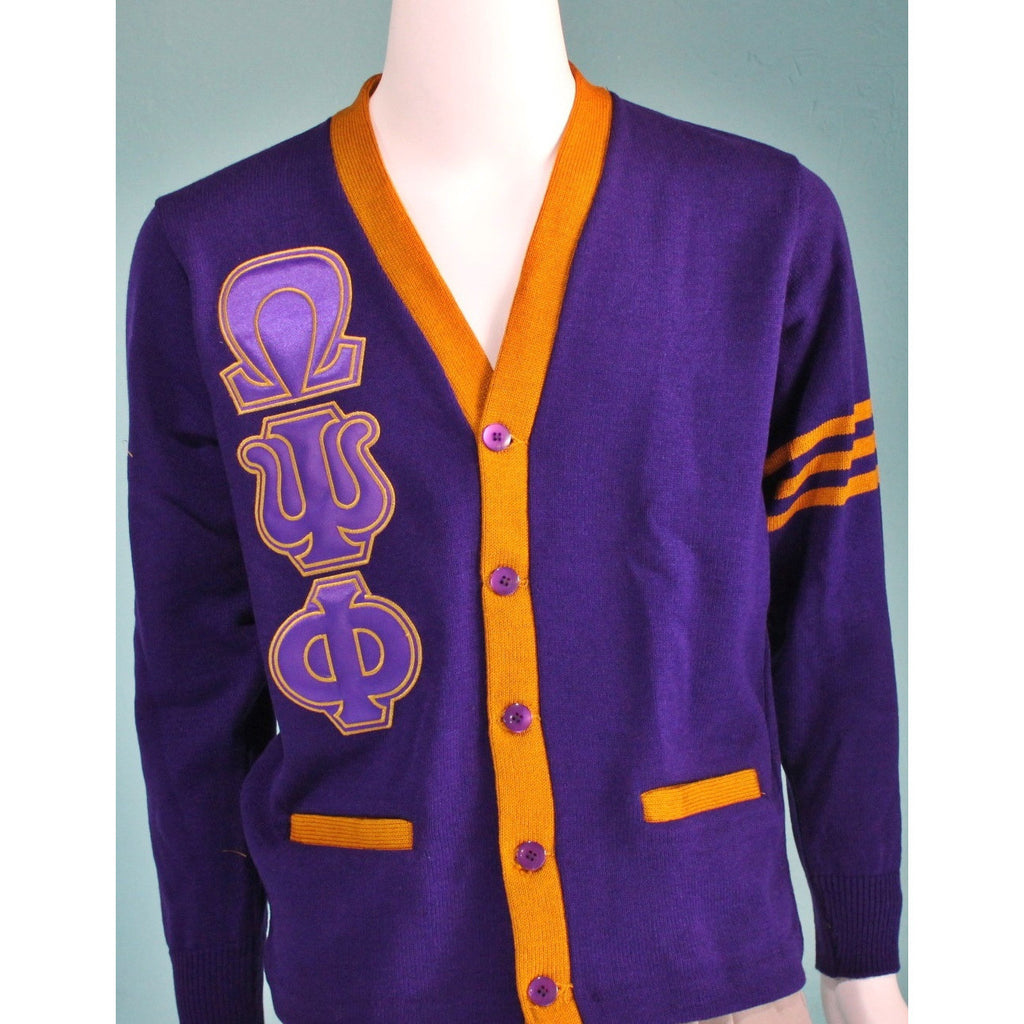 Omega Psi Phi Two Tone Cardigan Greek Divine And More