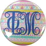 Phi Mu Tribal Printed Button