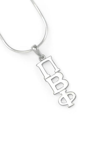 Pi Beta Phi Sterling Silver Lavaliere