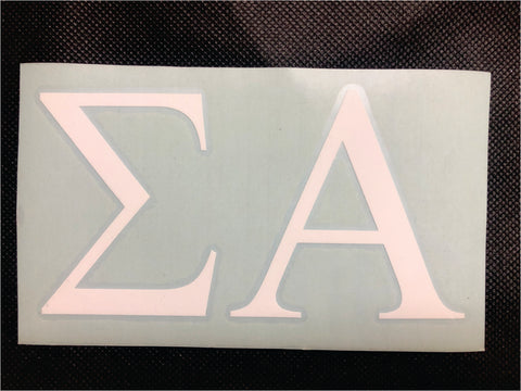Sigma Alpha 3in Decal