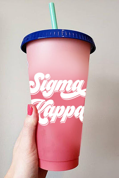 Sigma Kappa Color Changing Cups