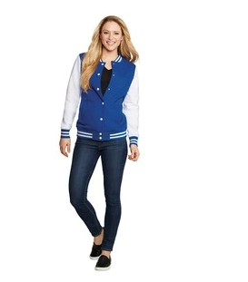Custom Ladies Fleece Letterman Jacket