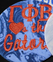 "Gamma Phi Beta ""Hearts the ___"" Game Day Embroidered Button"