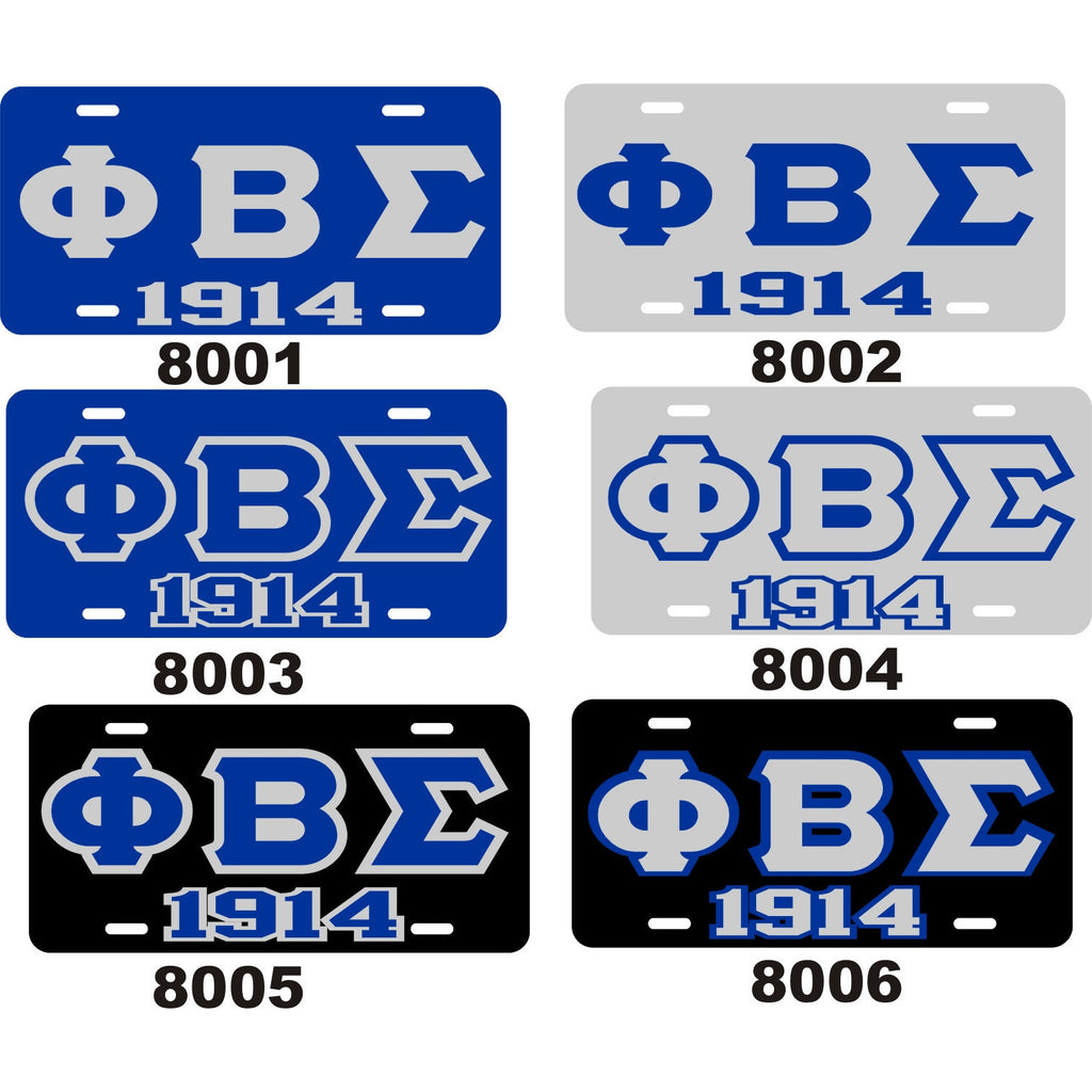 Phi Beta Sigma 1914 License Tag