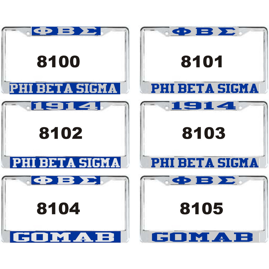 Phi Beta Sigma-1F License Frame