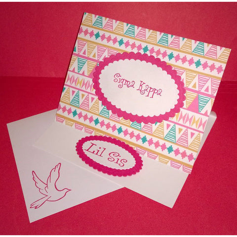 Sigma Kappa Tribal Print Cards