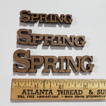 Spring Peel-N-Stick Word
